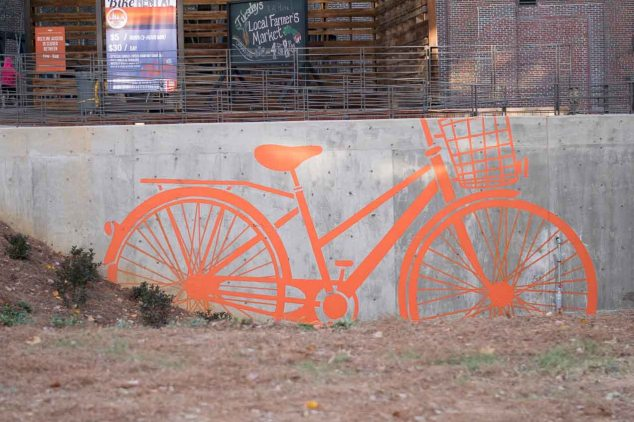 Bike Wall Art on Atlanta's Beltline