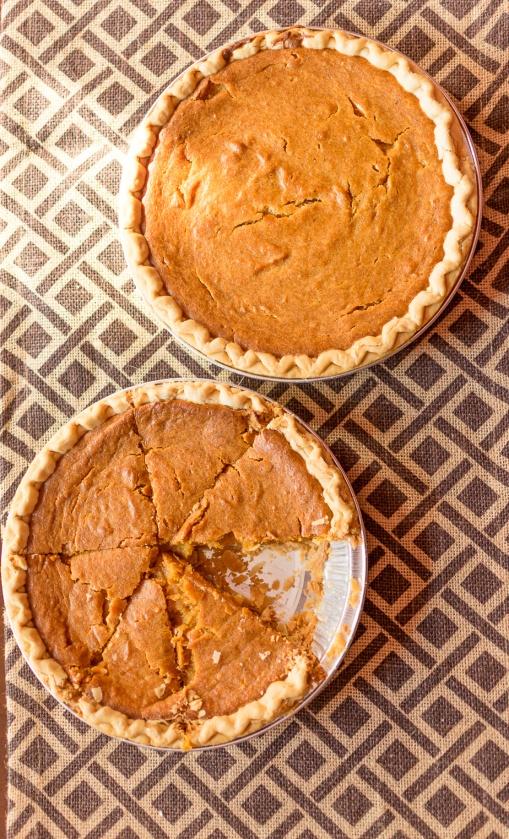 Homemade sweet potato pies.