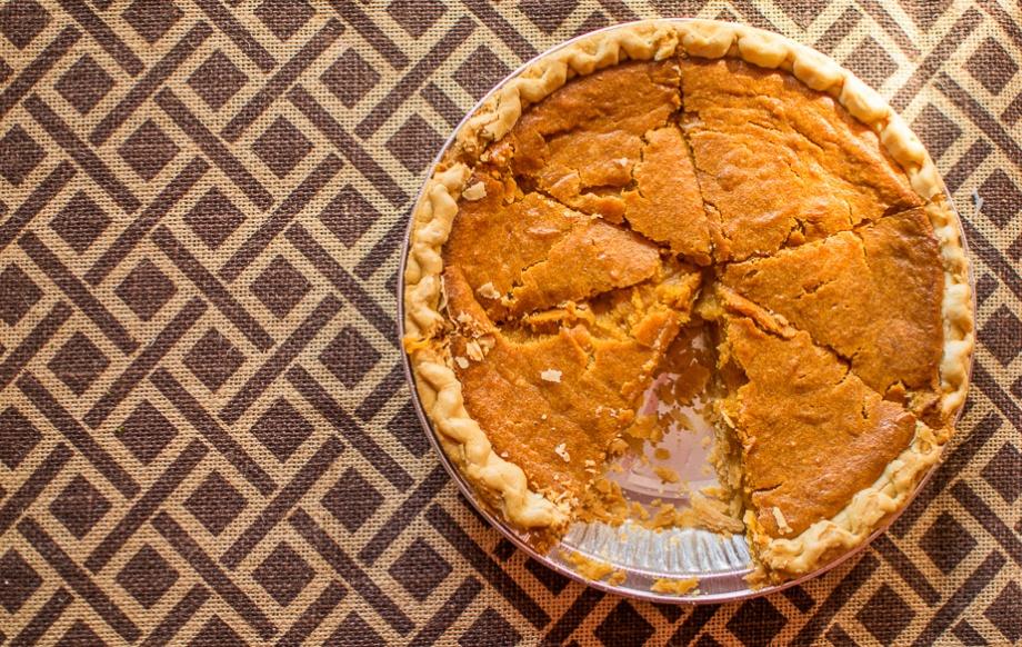 Homemade sweet potato pie.