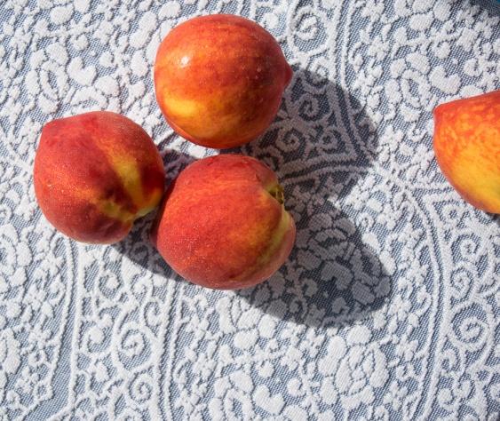 Fresh peaches.