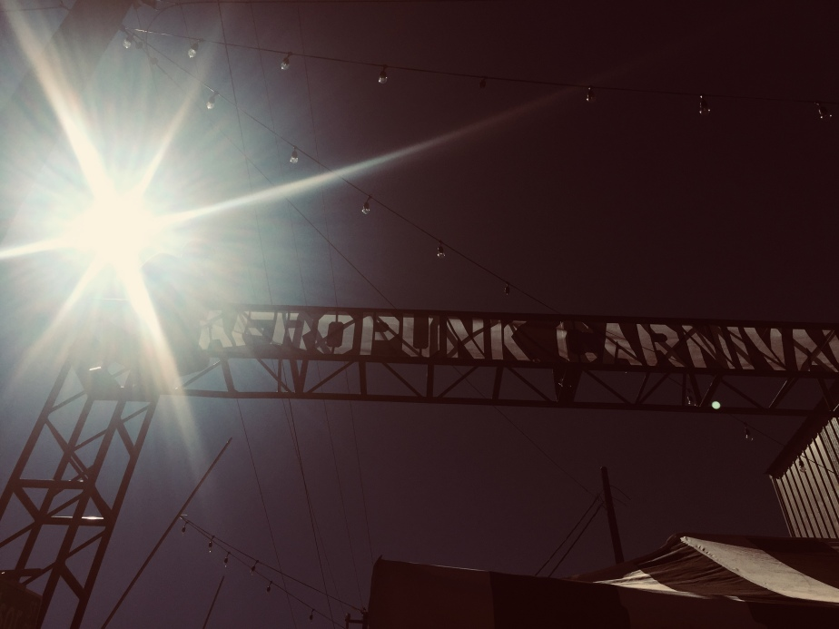 Photo of the Afropunk Welcome Banner: Afropunk Festival of Consciousness