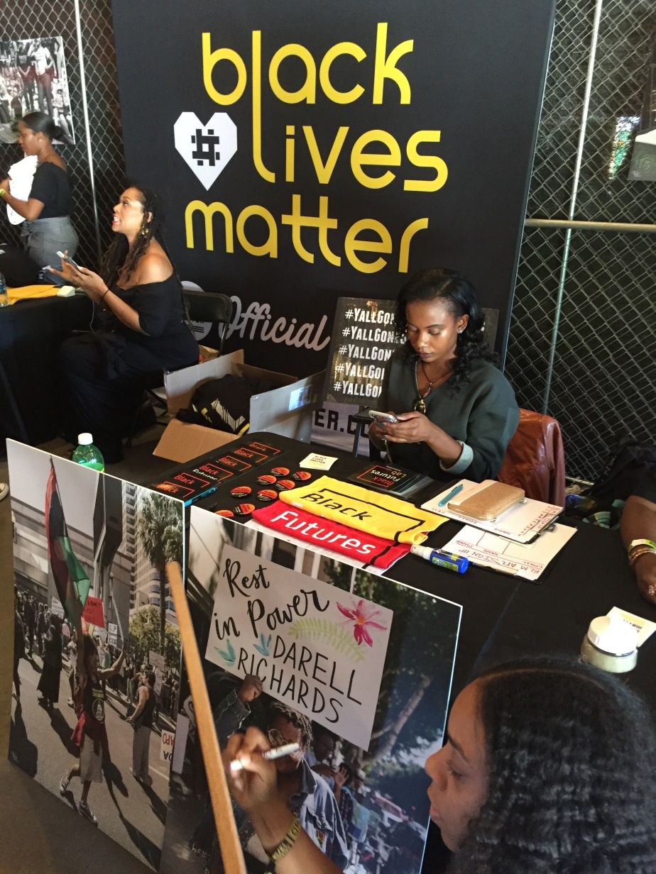 The Black Lives Matter table.